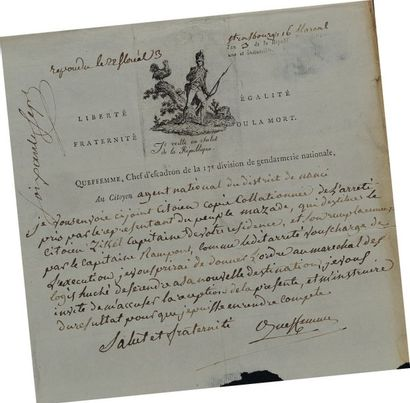 Lettre autographe signée. Lettre de Queffemme,...