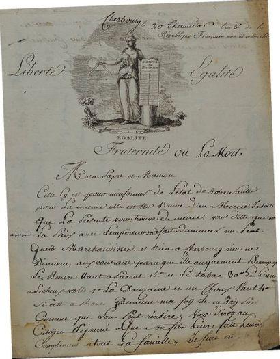 Lettre autographe signée de Louis Deraubrin,...