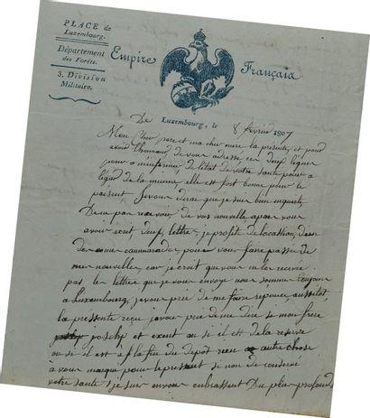 Lettre autographe signée du soldat Dulaz,...