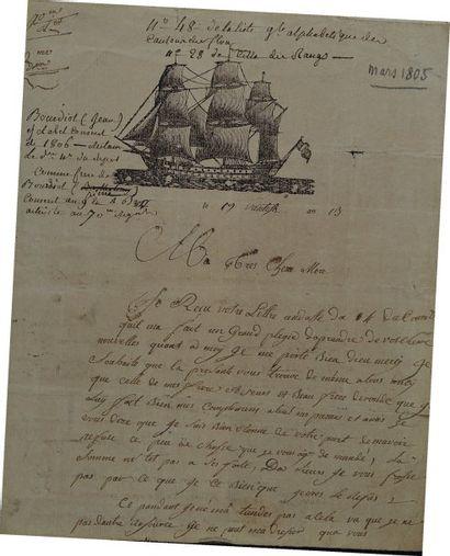 Lettre autographe signée de Tanguy Le Milloux,...