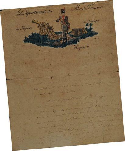 Lettre autographe signée du soldat René Julienne,...