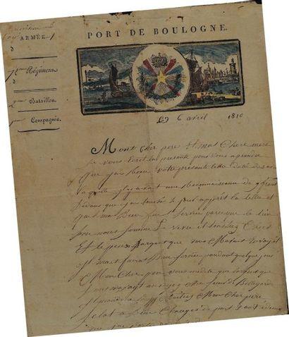 Lettre autographe signée du caporal Baravant,...