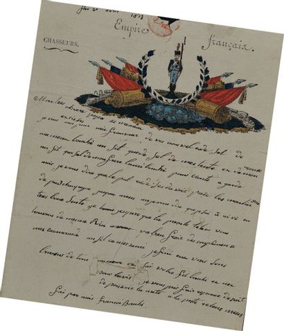 Lettre autographe signée du soldat François...