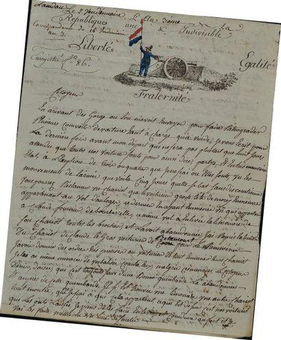 Lettre autographe signée. Lettre du citoyen...