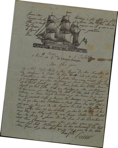 Lettre autographe signée. Lettre du marin...