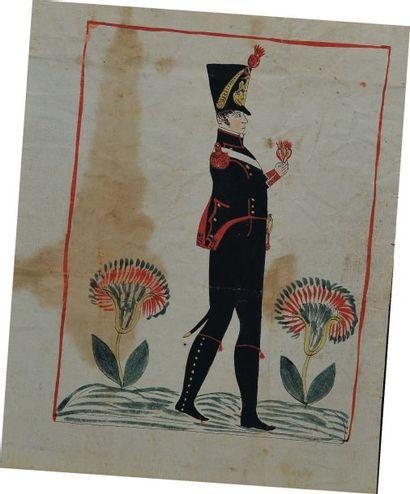 Lettre autographe signée du soldat Jean Baptiste...