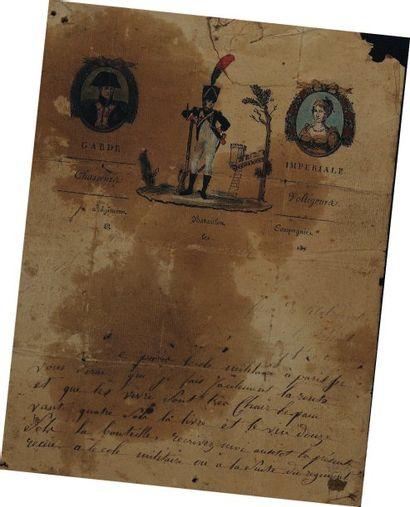 Lettre autographe signée d'un chasseur voltigeur...
