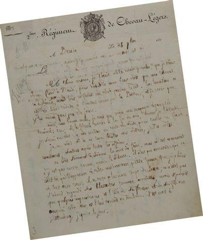 Lettre autographe signée du soldat M. Pellay,...