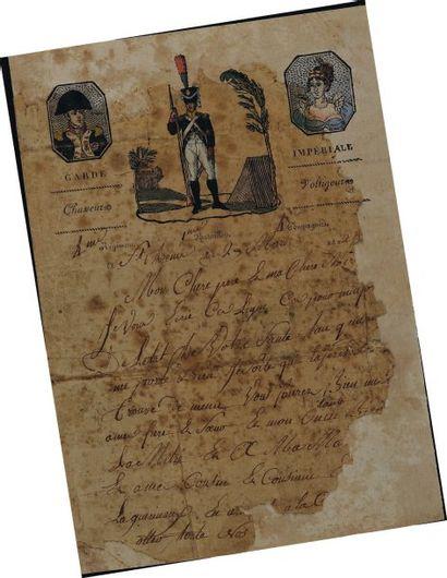Lettre autographe signée. Lettre du soldat...