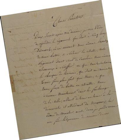 Lettre autographe signée de Fallot, brigadier...