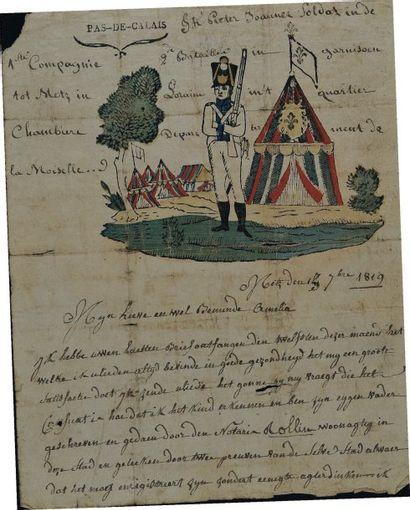 Lettre autographe signée du soldat Peter...