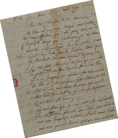 Lettre autographe signée. Lettre de Joseph...