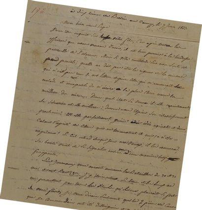 Lettre autographe signée du sergent major...