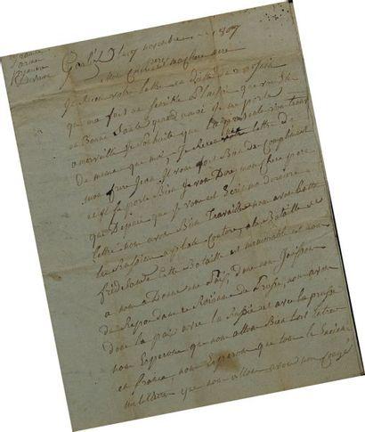 Lettre Autographe Signée de Junot, sergent...
