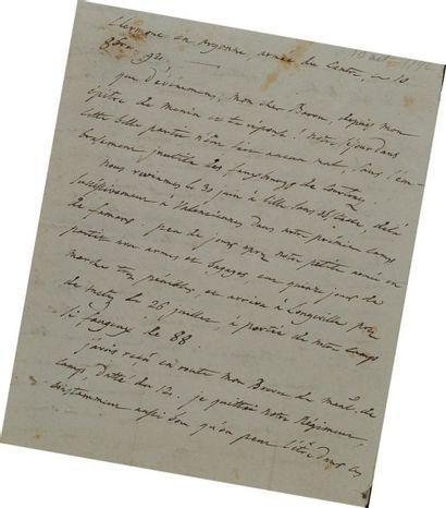 Lettre Autographe Signée. Lettre d'un Maréchal...