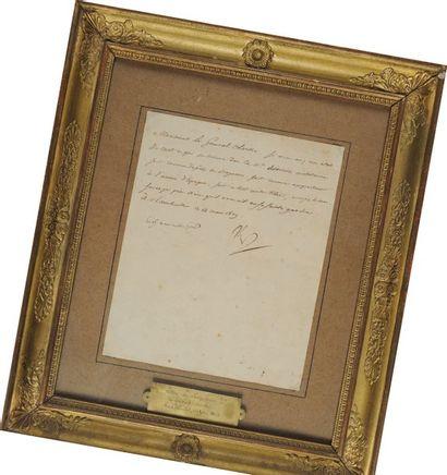 Lettre de Napoléon au Général Clarke, Rambouillet...