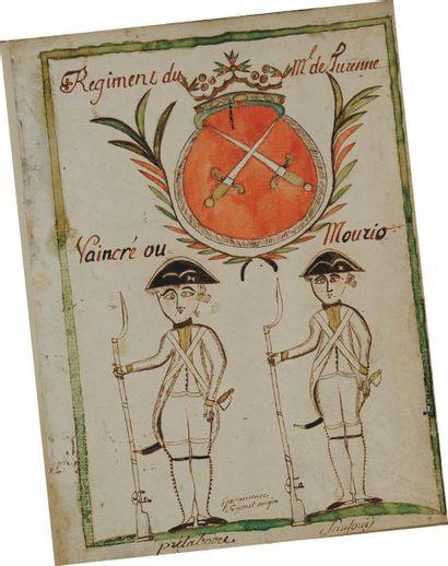 Manuscrit du Régiment du Maréchal de Turenne...