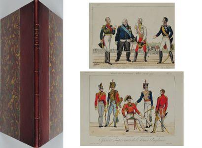 GODEFROID (A) Armée des souverains alliés. 1814-1815. Paris, Martinet, in-fol, demi-reliure...