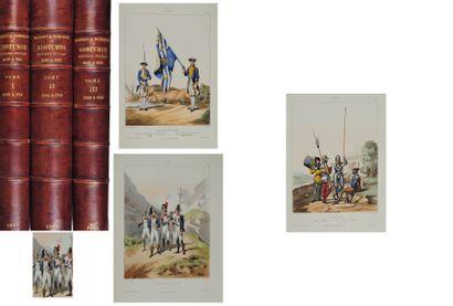 NOIRMONT (Dunoyer de) et A de MARBOT Costumes militaires français depuis l'organisation...