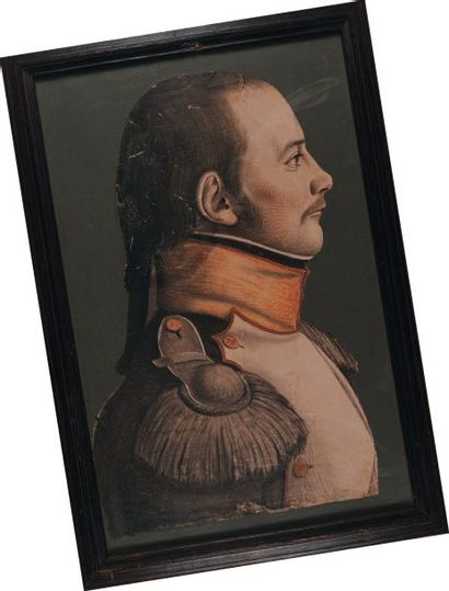 Portrait au pastel d'un Voltigeur du 76e...