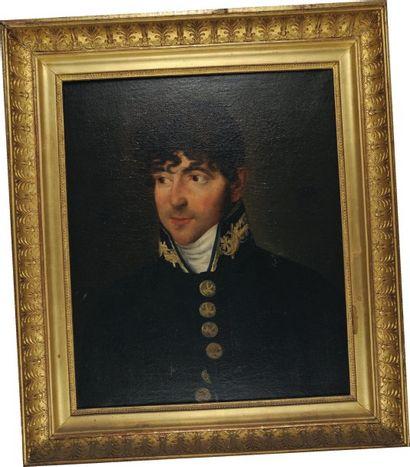 Portrait d'un Commissaire de Marine, Premier Empire. Huile sur toile représentant...