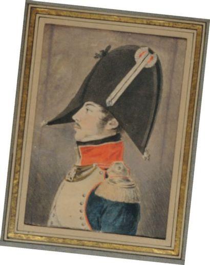Portrait d'un Officier Premier Empire en...