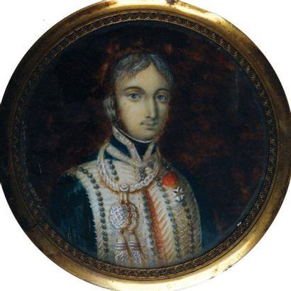 Portrait miniature du colonel Maréchal, du...