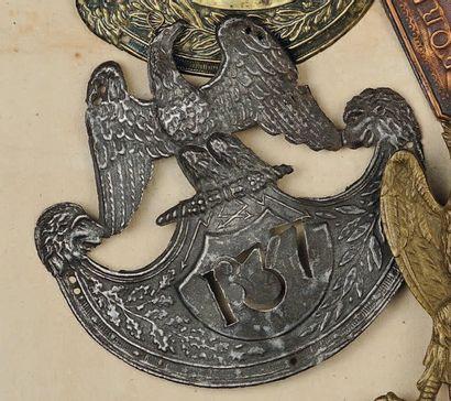 Plaque de schako du 137e d'Infanterie Légère,...