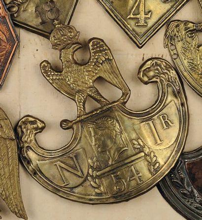 Plaque de schako du 54e Régiment d'Infanterie...