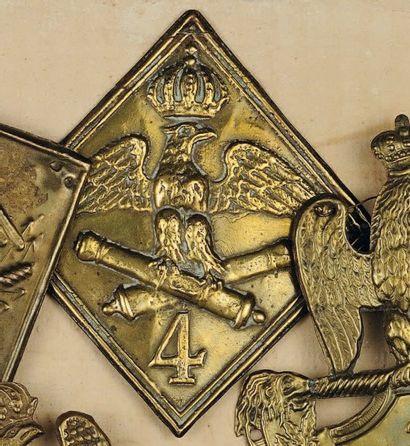 Plaque de schako du 4e Régiment d'Artillerie,...