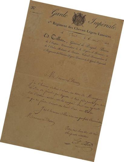 Lettre Autographe Signée du colonel Édouard...
