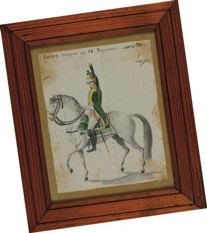 Léger, Dragon au 24e Régiment, Premier Empire....