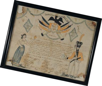 Brevet illustré de la « Société des cadets...