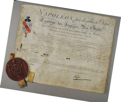 Titre nobiliaire de Chevalier d'Empire du...