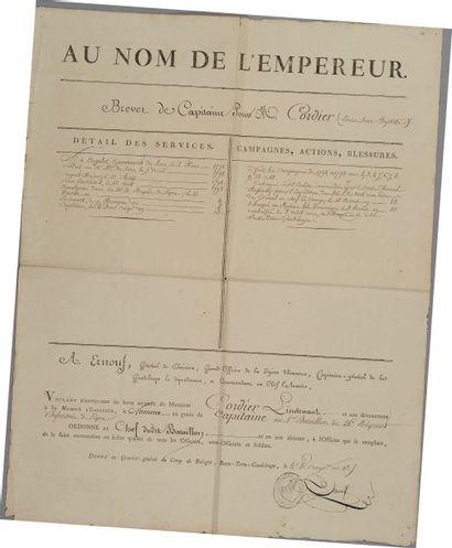 Brevet de capitaine pour Monsieur Cordier,...