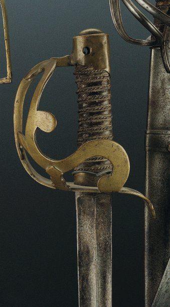 Sabre « Arco » de Cavaliers et de Dragons, modèle 1783. Monture en laiton avec fleur...