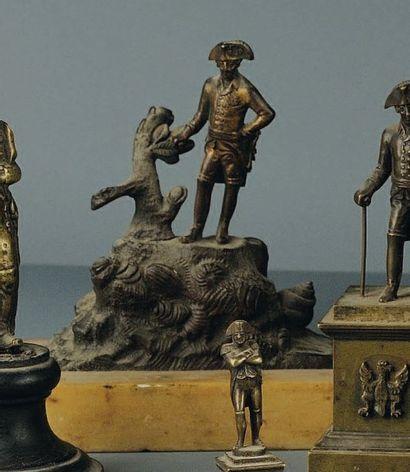 Statuette en bronze de Frédéric II positionnée...