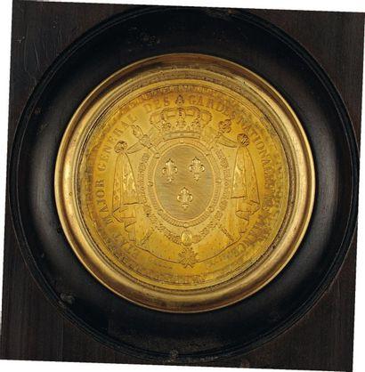 Médaille en cuivre doré estampé des grandes...