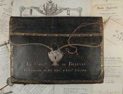 Portefeuille du Chevalier de Beauval, lieutenant-colonel...