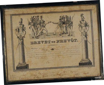 Brevet de Prévôt, Monarchie de Juillet. Brevet...