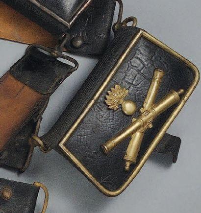 Giberne d'Officier d'Artillerie, Second Empire....