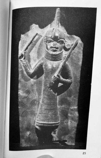 Superbe plaque Edo, Royaume du Bénin, Nigeria Époque: XVIIe siècle Alliage de bronze...