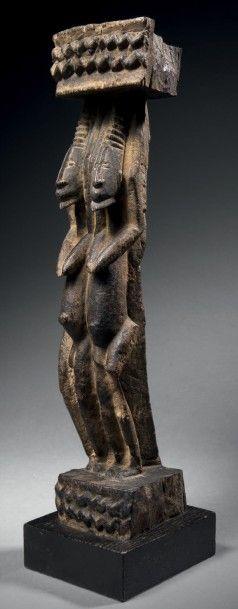 Fragment de siège Dogon, Mali Époque: 1700-1740...