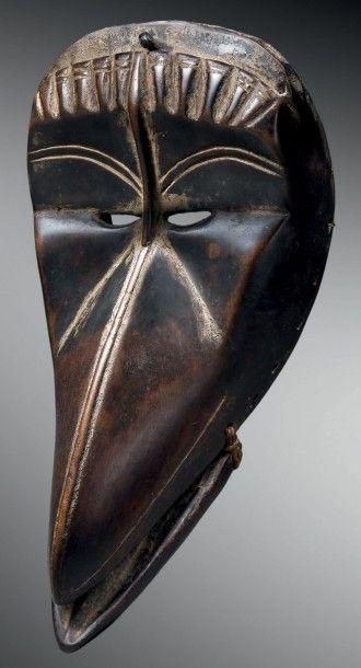 Masque oiseau Dan/Guéré kagle, Côte d'Ivoire/Libéria...