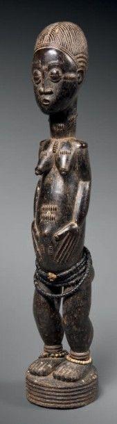 Statue Baoulé blolo bla, Côte d'Ivoire Bois...