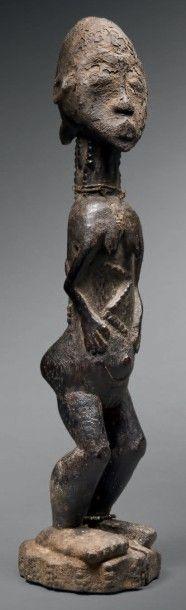 Statue Baoulé, région de Sakassou, Côte d'Ivoire...