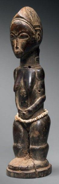 Statuette Baoulé blolo bla, Côte d'Ivoire...