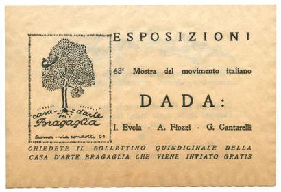 [DADA]. ESPOSIZIONI DADA. Roma, Casa d'Arte...