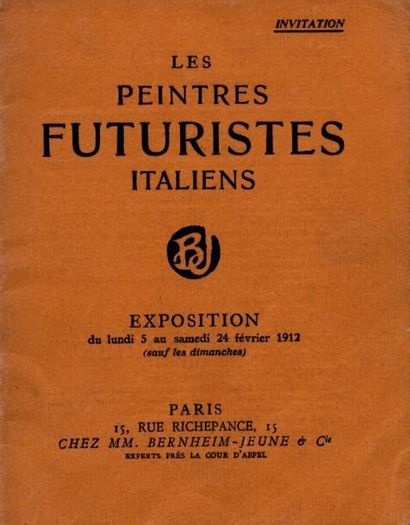 [FUTURISME ITALIEN]. LES PEINTRES FUTURISTES...