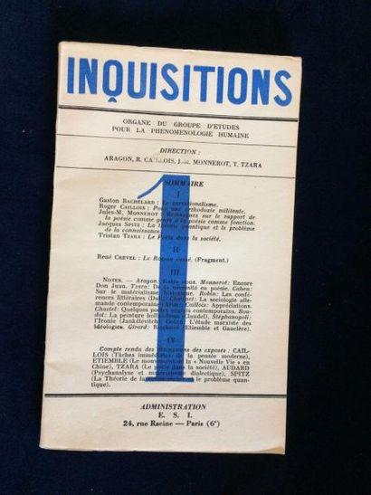 REVUE. INQUISITIONS. Paris, E.S.I., 1936....